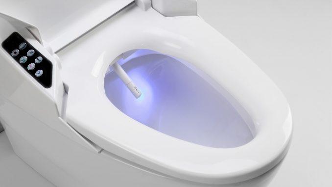 Un WC japonais lavant avec jet incorporé