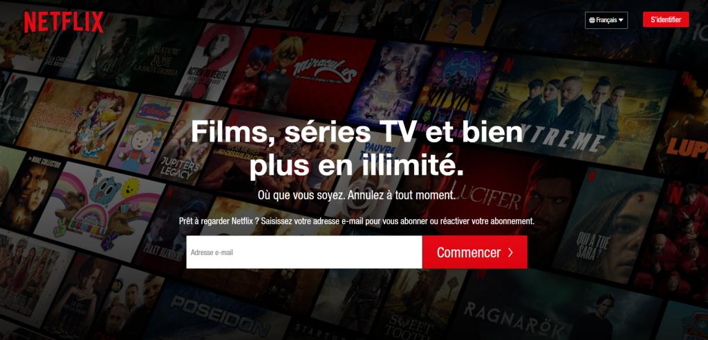 La plateforme SVOD la plus connue au monde, Netflix